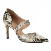 Scarpin Couro Shoestock Lopsided Snake -