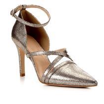 Scarpin Shoestock Metailzado Salto Alto Tiras -