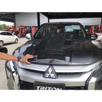 Scoop do Capô - Mitsubishi Triton 2017 em Diante  com Frente Nova (Cor Preto Fosco) - Gama