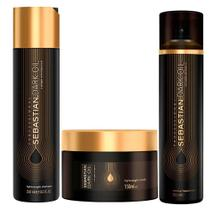 Sebastian Dark Oil Kit - Shampoo + Máscara + Perfume para Cabelo -