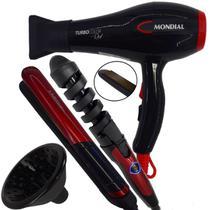 Secador de cabelo 2000w difusor chapinha frizz e cacheador - Mondial