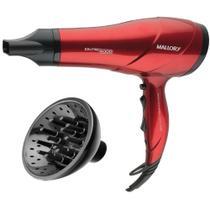 Secador De Cabelo Mallory Pro 4000 Bivolt Vermelho + Difusor Cachos -