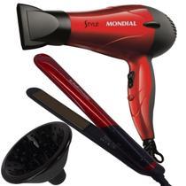 Secador de cabelo mondial viagem difusor e chapinha nano pro -