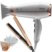 Secador De Cabelo Philco 2000w Ion Profissional Quente Frio Beauty Difusor Prancha Cerâmica 200c -