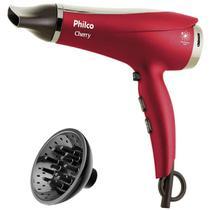 Secador De Cabelo Philco Cherry 2100w Ions Ar Quente e Frio Com Difusor De Cachos -