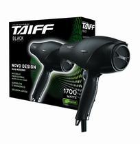 Secador de cabelo profissional taiff black 1700w - 220v -