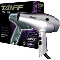 Secador de cabelo profissional taiff fox ion prata 2000w -