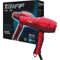Secador de Cabelo Taiff Red Íon, 2 Velocidades, 4 Temperaturas, 1900W,  110V - Vermelho -