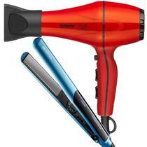 Secador De Cabelo Taiff Style 2000w Profissional Ar Quente Frio Red Prancha Titanium Azul Britania -