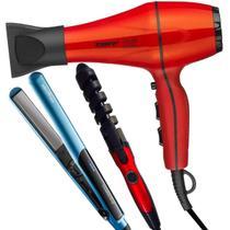 Secador De Cabelo Taiff Style 2000w Profissional Red Modelador Nova Prancha Titanium Azul -