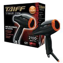 Secador de Cabelo Taiff Titanium Colors Laranja 2100W - 220V -