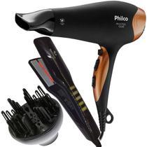 Secador de cabelos Philco Ph3700 2100w Com difusor E Chapinha 410ºF -