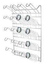 Secador de Copos em Aço Cromado para Escorrer 20 Copos - Plugador