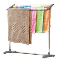 Secador de roupas para varanda lavanderia quintal varal de chao toalheiro portatil em inox rack organizador - Makeda