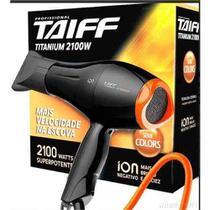 Secador Taiff Titanium Colors 2100w Preto/Laranja 220v -