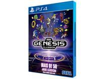 Sega Genesis Classics para PS4 Mais de 50 Jogos - com Pôster