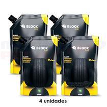 Selante para pneu de carro - 4 unid de 600ml - Block Selantes