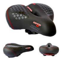 Selim Vazado Anatômico Gel Confortável Bike Mtb Sinalizador de Segurança - Gts