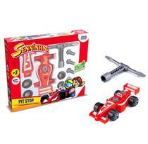 Senninha Pit Stop Carrinho F1 c/ Acessórios - 143865 - Paki Toys