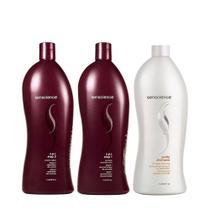 Senscience Kit CPR passo 1 e passo 2 + Shampoo Purify realiza limpeza profunda 1L -