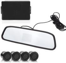 Sensor de Estacionamento 4 Pontos com Câmera de Ré e Display Retrovisor - SUNS -