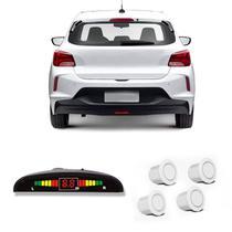 Sensor de Estacionamento Ré 4 Pontos Branco Roadstar RS104BR -