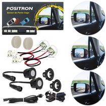 Sensor de Ponto Cego Universal Lateral Positron Automotivo com Alerta Visual de LED Preto e Cinza -