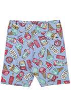Serelepe Kids - Shorts Infantil Feminino Biker Candy Kawaii Azul - SP6146-AZ -