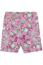 Serelepe Kids - Shorts Infantil Feminino Biker Candy Kawaii Rosa - SP6146-RS -