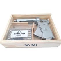Seringa Veterinária Triângulo Tipo Pistola Automática com Estojo 30ml - Triângulo Agulhas