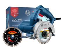 Serra Mármore Bosch GDC 150 TITAN 1500W 127V Profissional com Disco de Corte Diamantado Sparta -