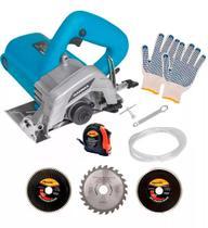 Serra Mármore Kit Refrigeração 1240w Gamma com Discos e Acessórios -