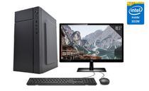 "Servidor Desktop Computador Intel Xeon Quad Core 8GB SSD 240GB Placa de vídeo Geforce GT Monitor 19.5"" CorPC Safe -"