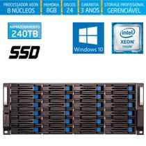 Servidor-Storage Silix X1200H24 V6 Intel Xeon 3.5 Ghz / 8GB / SSD / 240TB / RAID / Hot-Swap / Win 10 -