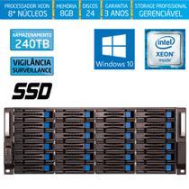 Servidor-Storage Silix X1200H24 V6 Intel Xeon 3.5 Ghz / 8GB / SSD / 240TB Vigilância / RAID / Win 10 -