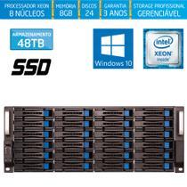 Servidor-Storage Silix X1200H24 V6 Intel Xeon 3.5 Ghz / 8GB / SSD / 48TB / RAID / Hot-Swap / Win 10 -