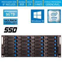 Servidor-Storage Silix X1200H24 V6 Intel Xeon 3.5 Ghz / 8GB / SSD / 96TB Vigilância / RAID / Win 10 -