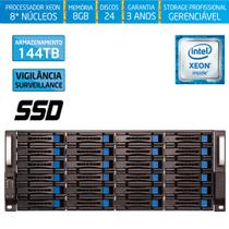 Servidor-Storage Silix X1200H24 V6 Intel Xeon V6 3.5 Ghz / 8GB / SSD / 144TB Vigilância / RAID -