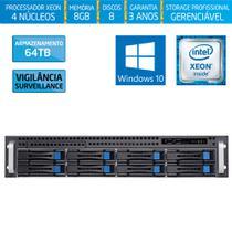 Servidor-Storage Silix X1200H8 Intel Xeon 3.0Ghz / 8GB / 64TB Vigilância / RAID / Hot-Swap / Win 10 -