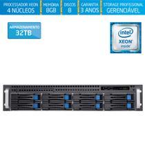 Servidor-Storage Silix X1200H8 V6 Intel Xeon E3 V6 3.0 Ghz / 8GB / 32TB / RAID / Rack 2U / Hot-Swap -