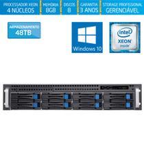 Servidor-Storage Silix X1200H8 V6 Intel Xeon E3 V6 3.0 Ghz / 8GB / 48TB / RAID / Hot-Swap / Win 10 -