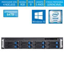 Servidor-Storage Silix X1200H8 V6 Intel Xeon E3 V6 3.0 Ghz / 8GB / 64TB / RAID / Hot-Swap / Win 10 -