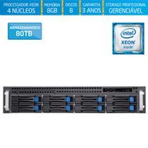Servidor-Storage Silix X1200H8 V6 Intel Xeon E3 V6 3.0 Ghz / 8GB / 80TB / RAID / Rack 2U / Hot-Swap -