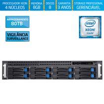 Servidor-Storage Silix X1200H8 V6 Intel Xeon E3 V6 3.0Ghz / 8GB / 80TB Vigilância / RAID / Hot-Swap -