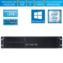 Servidor-Storage Silix X1200R Intel Xeon E3 V6 3.0 Ghz / 8GB / 18TB Vigilância / RAID / Win 10 Pro -