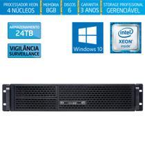 Servidor-Storage Silix X1200R Intel Xeon E3 V6 3.0 Ghz / 8GB / 24TB Vigilância / RAID / Win 10 Pro -