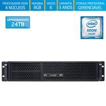 Servidor-Storage Silix X1200R V6 Intel Xeon E3 V6 3.0 Ghz / 8GB / 24TB / RAID / USB 3.0 / Rack 2U -