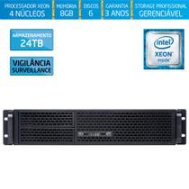 Servidor-Storage Silix X1200R V6 Intel Xeon E3 V6 3.0 Ghz / 8GB / 24TB Vigilância / RAID / Rack 2U -