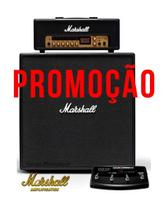 Set Marshall Amp Code 100H + Caixa Code412 + Footswitch Promo -