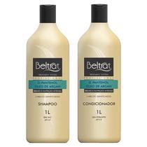 shampoo 1 L + condicionador 1 L beltrat óleo de argan e d-pantenol (cabelos danificados) -
